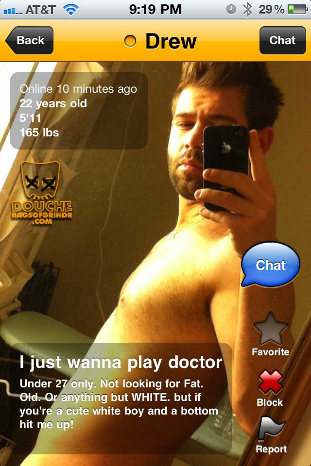 doctor douche the grindr douche yay