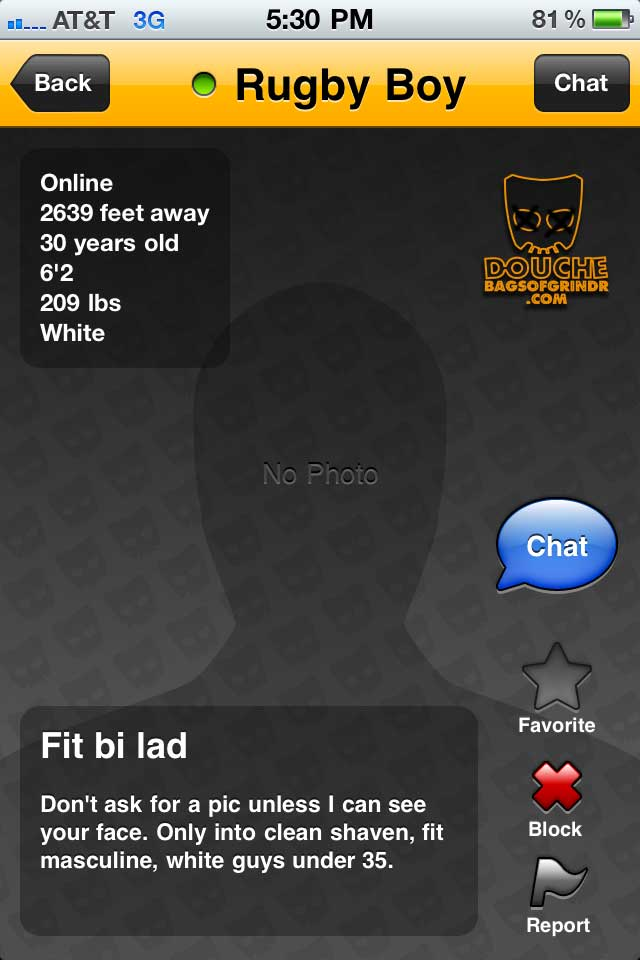 rugby grindr douche