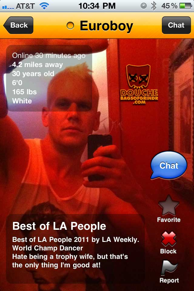 trophy grindr douche