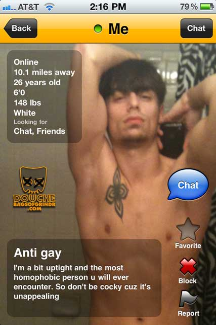 antigay grindr douche