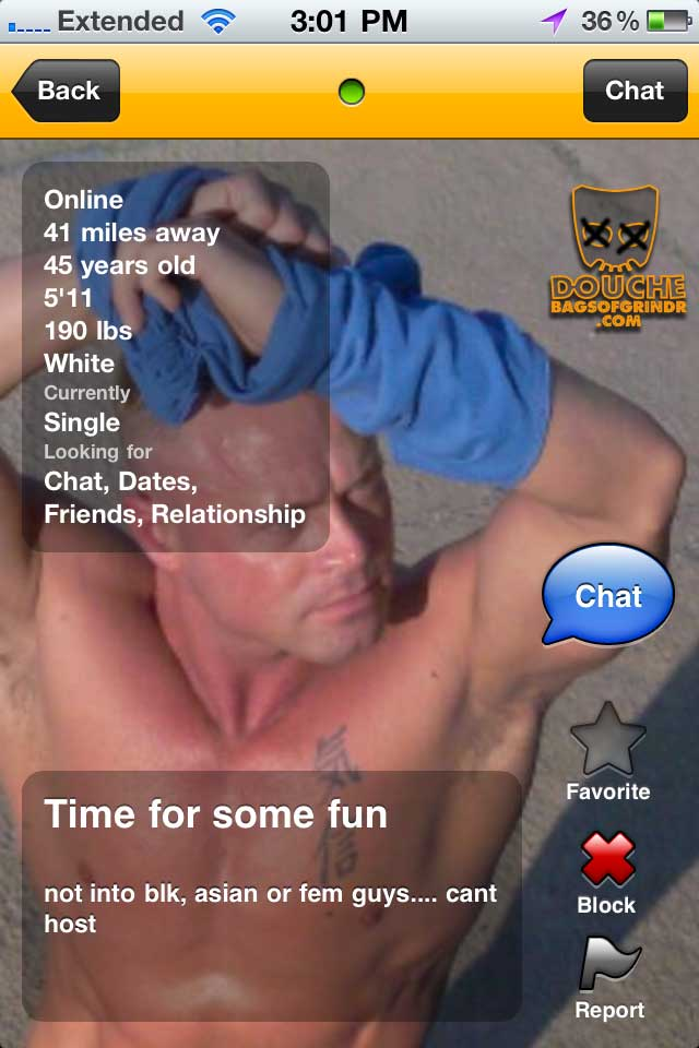 some fun grindr douche