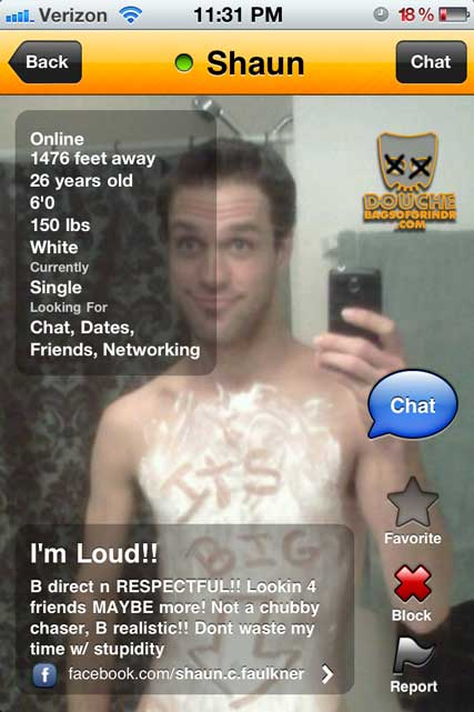a thoroughly big grindr douche
