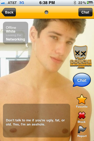 a self confessed grindr douche
