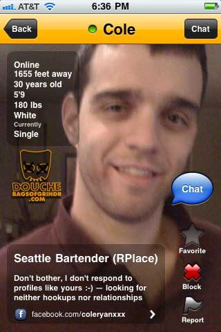 pointless grindr douch