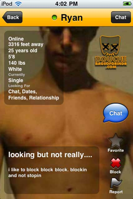 another blocking addict. apparently he has no requirements. just loves to block. grindr douche.