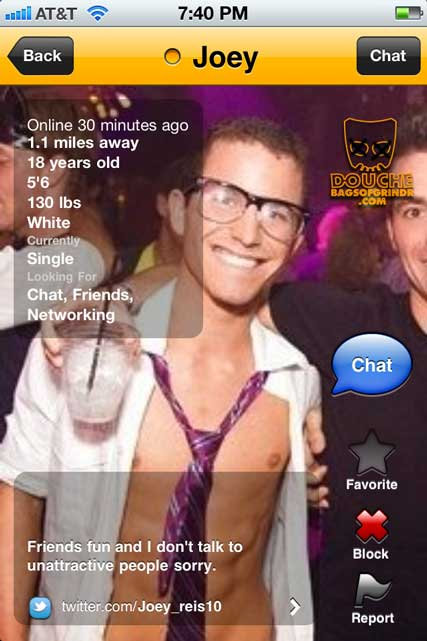 friends and fun and grindr douche