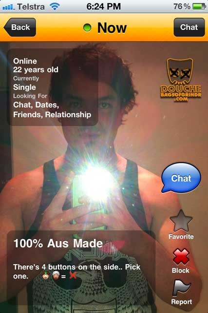 Clever Use of Racism in Emoticons from this Grindr Douche