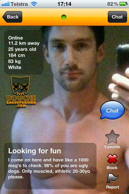 THis is about as douchey as a grindr douche can be!