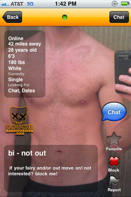 DON'T be out for this grindr douche!