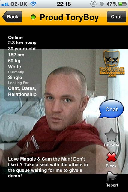 tory grindr douche