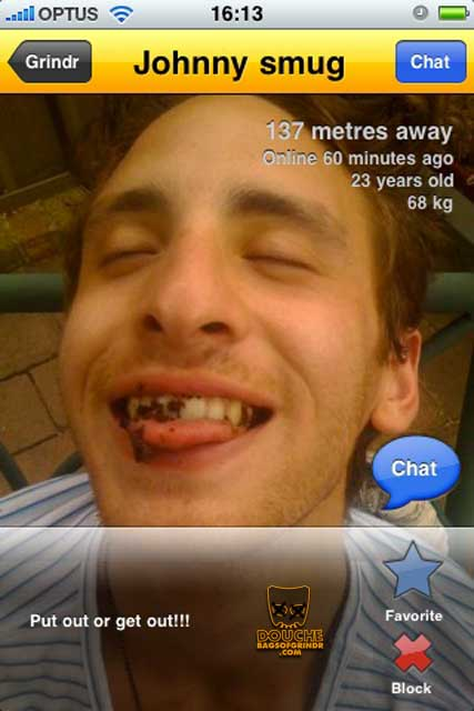 scatological grindr douche