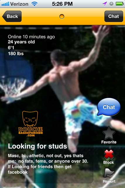 leaping grindr douche