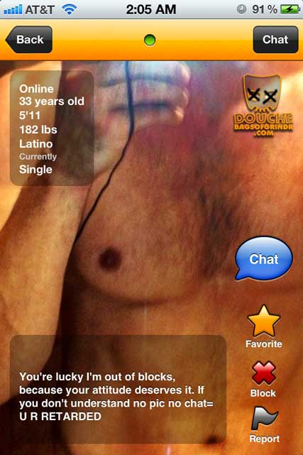 When you're as smart as this grindr douche, everyone else is retarded.