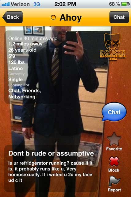 wtf? this grindr douche makes no sense