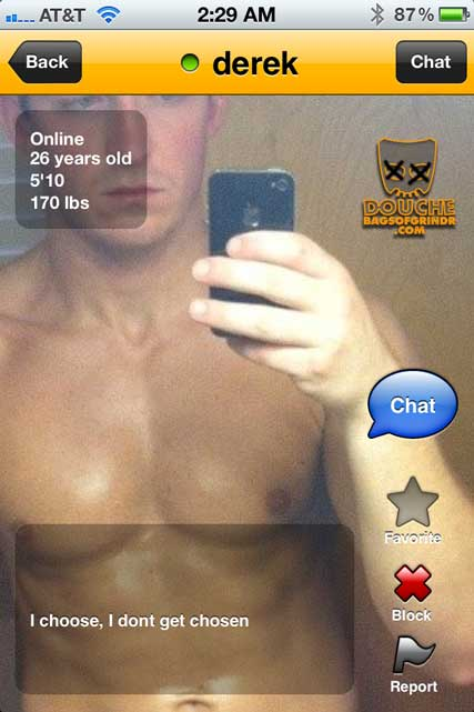 A choosey Grindr douche.