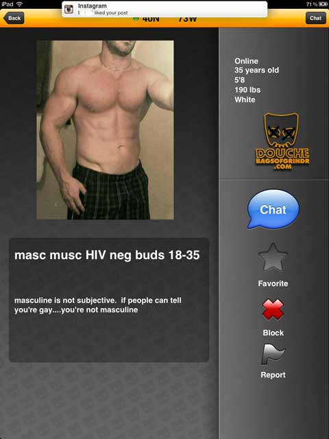 masc musc grindr douche defines manhood