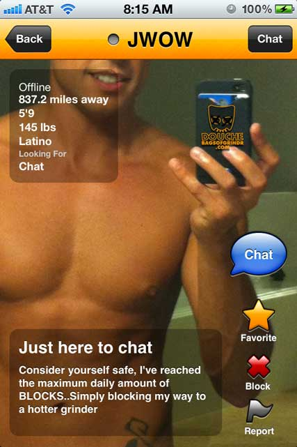 Wow what a grindr douche!